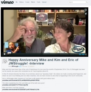 1 yr and 2 yr anniversaries for Mike and Kim and Eric!